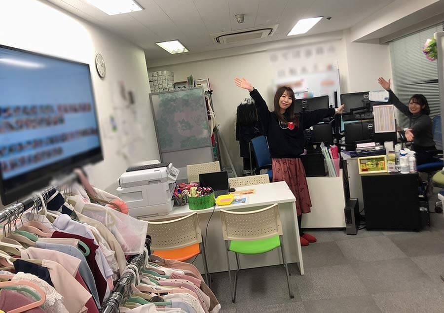 アスタリスク大阪店事務所内