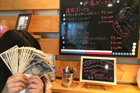 ラテキューブ名古屋のボーナス体制