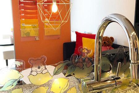 グラマラスブランド休憩スペースの写真